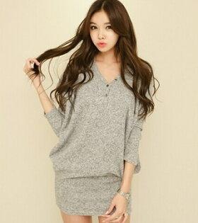 [簡約時尚]時尚設計舒適七分袖百搭款련옷裙十天預購+現貨