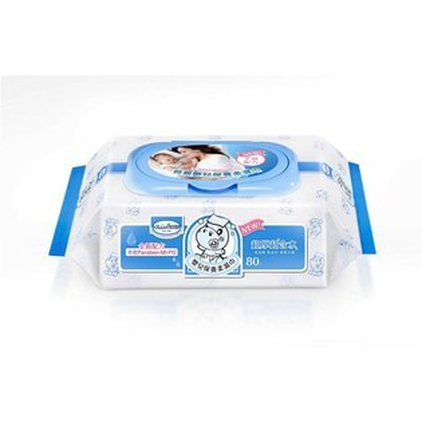 貝恩EDI超純水嬰兒手口柔濕巾80抽(24入箱)●濕紙巾●附蓋子(一包一個)●含運價