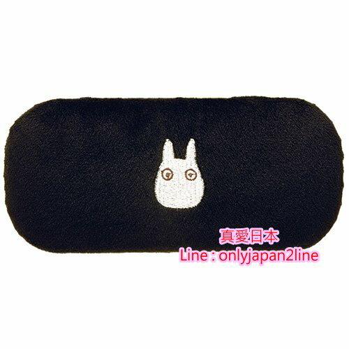 【真愛日本】16091100003眼鏡盒-白龍貓黑  龍貓 TOTORO  眼鏡盒 收納盒 日本國內版