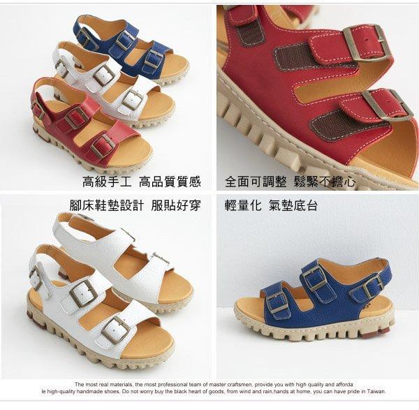 AppleNana蘋果奈奈【QTY251380】全面可調不分年齡輕量化真皮氣墊涼鞋 2