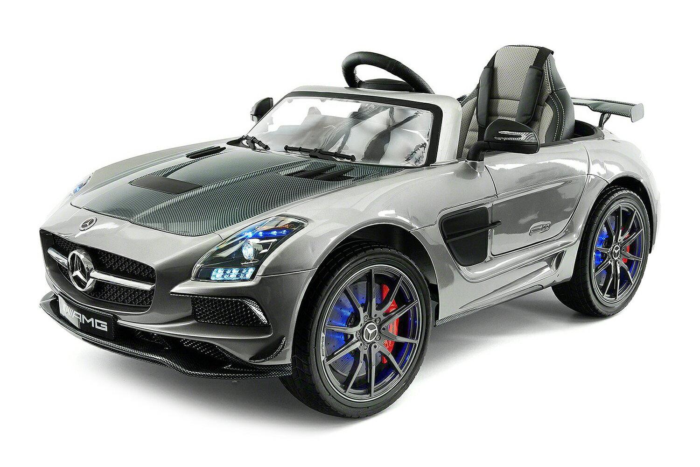 Car For Kids Mercedes Sls Ride On 12v Battery Ed Leather Seat Led