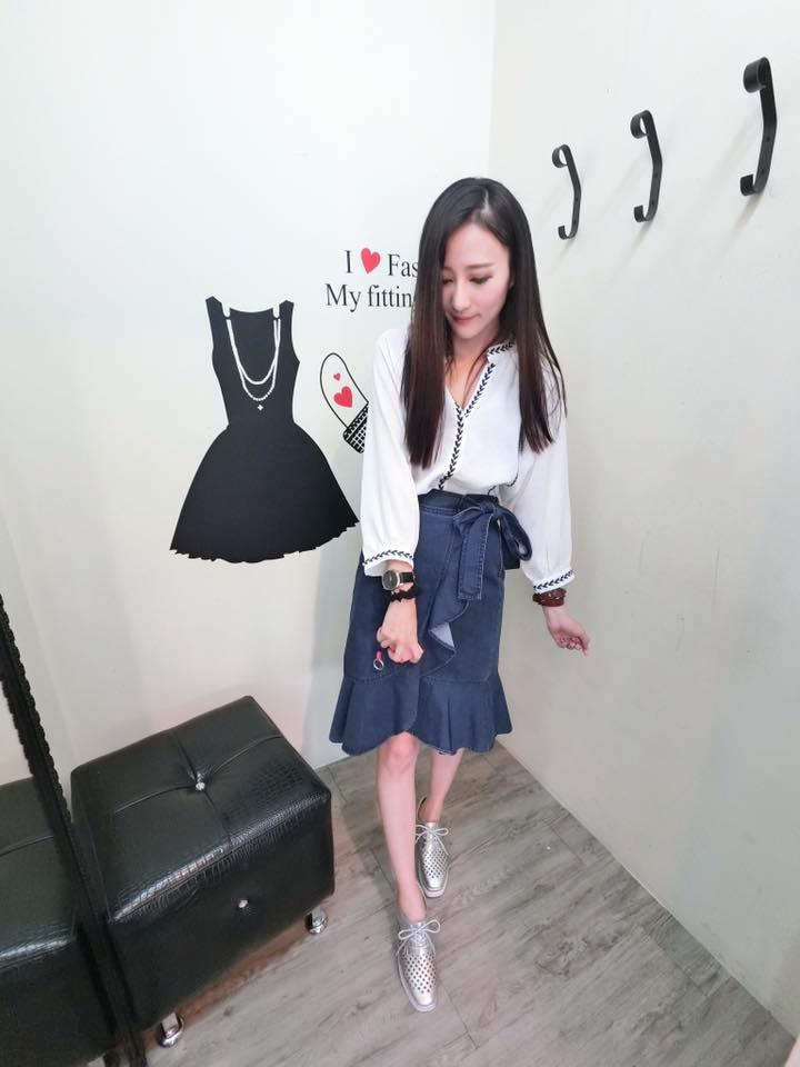 正韓魚尾及膝牛仔裙(現/預) 2
