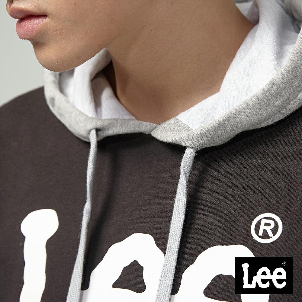 Lee 大LOGO長袖連帽TEE恤 / RG 4