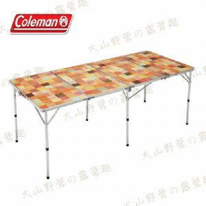 【露營趣】中和安坑 Coleman CM-26749 自然風抗菌摺桌/180 休閒桌 露營桌 摺疊桌 野餐桌