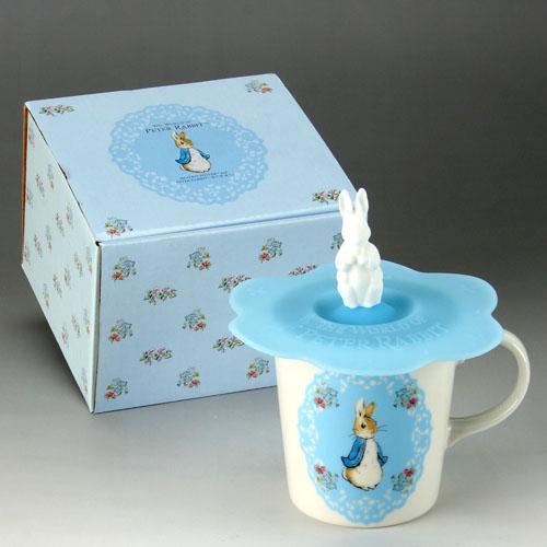 日本代購預購 日本製 比得兔 彼得兔 杯子茶杯水杯咖啡杯含矽膠造型蓋子 058-510