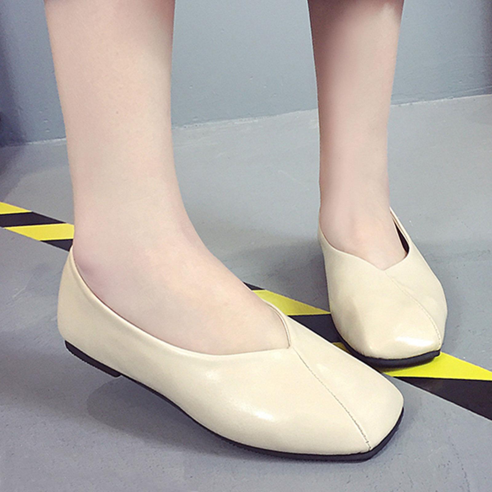 懶人鞋 奶奶鞋 韓版復古淺口方頭懶人鞋【S1681】☆雙兒網☆ 4