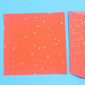 35開金點紅紙 DIY空白春聯紙 門聯 15.5cm x 15.5cm/一包100張入{定140}