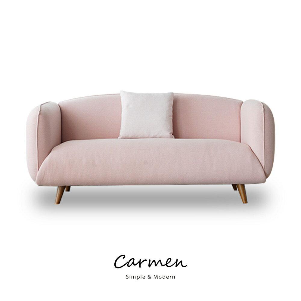 Carmen簡約北歐風三人沙發(含抱枕) 2