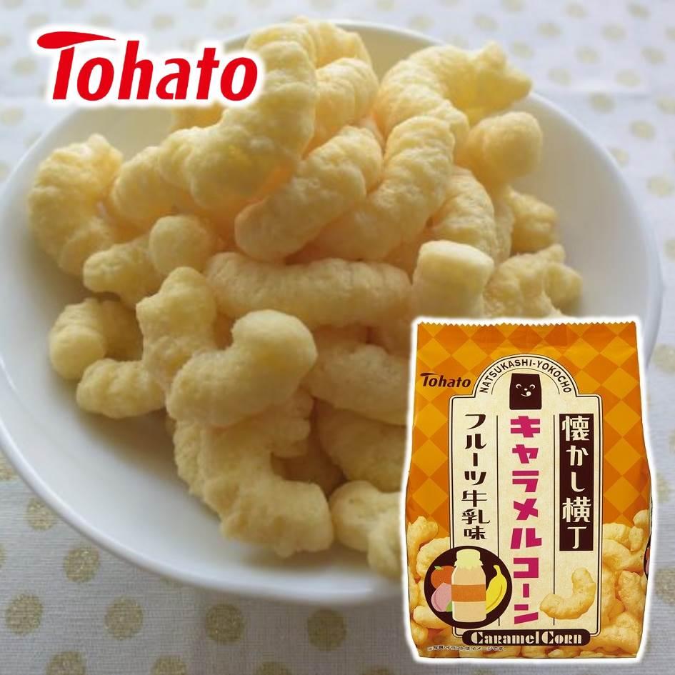 【Tohato東鳩 】懷舊橫丁焦糖玉米脆果-水果牛奶 77g Caramel Corn 日本進口零食