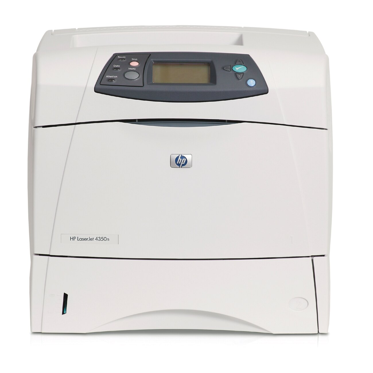 HP LaserJet 4350n Laser Printer - Monochrome - 1200 x 1200 dpi Print - Plain Paper Print - Desktop - 55 ppm Mono Print - Letter, Legal, Executive, Statement, Envelope No. 10, Monarch Envelope, Custom Size - 600 sheets Standard Input Capacity - 250000 Duty 0