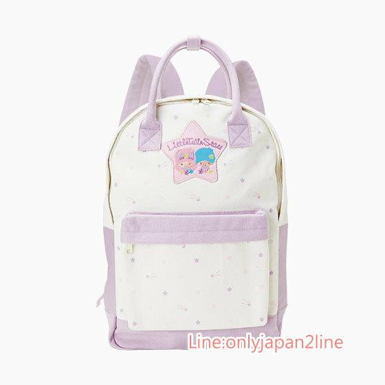 【真愛日本】4901610701263 兩用帆布後背包-TS紫AAG 三麗鷗家族 Kikilala 雙子星 書包 預購