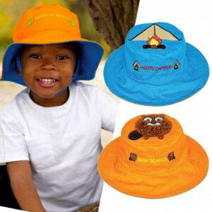小烏龜精品童裝店:UPF50+高防曬指數‧保護細緻肌膚Flapjackkids雙面遮陽帽-土撥鼠帳篷
