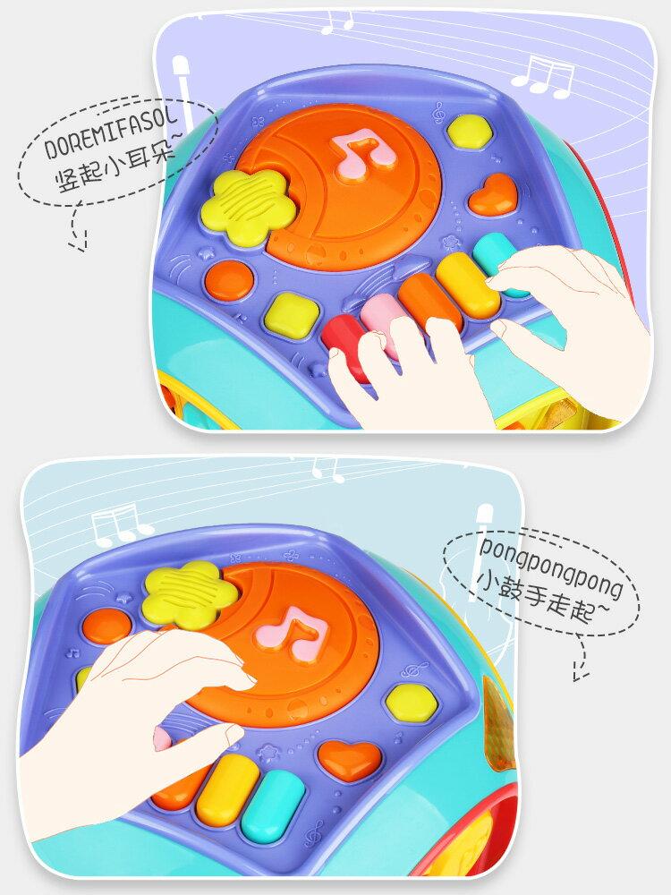 手拍鼓玩具兒童音樂拍拍鼓寶寶早教益智六面體可充電0-1歲6月