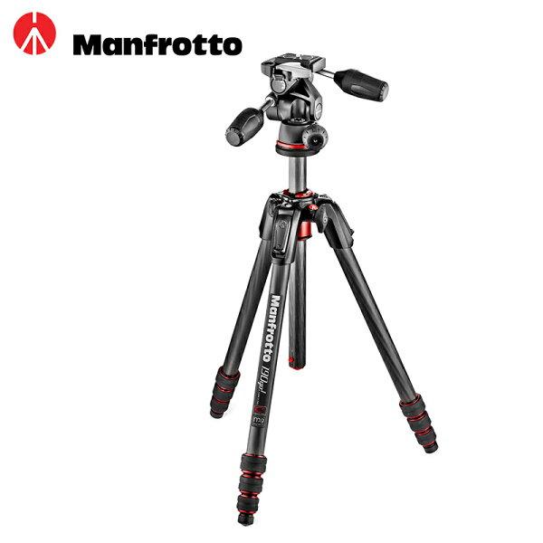 ◎相機專家◎Manfrotto190Go!MK190GOC4TB-3W碳纖維四節腳架三向雲台送腳架袋公司貨