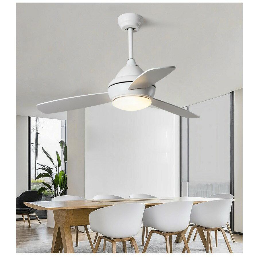 北歐風扇燈現代簡約客廳餐廳吊扇燈創意馬卡龍兒童臥室帶風扇吊燈ATF 2