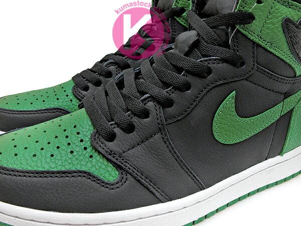 2020 經典復刻款 九孔鞋洞 NIKE AIR JORDAN 1 RETRO HIGH OG PINE GREEN BLACK 黑綠 CELTICS 波士頓 塞爾提克 黑綠腳趾 AJ (555088-030) ! 2