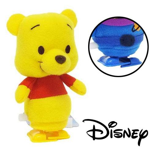 【日本進口正版】迪士尼 小熊維尼 發條玩偶 發條走路玩偶 發條公仔 發條玩具 - 055933