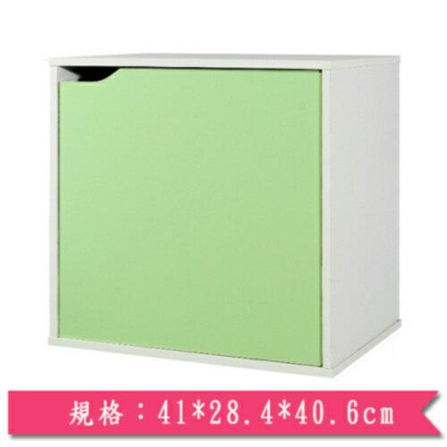 魔術方塊單門收納櫃-綠【愛買】