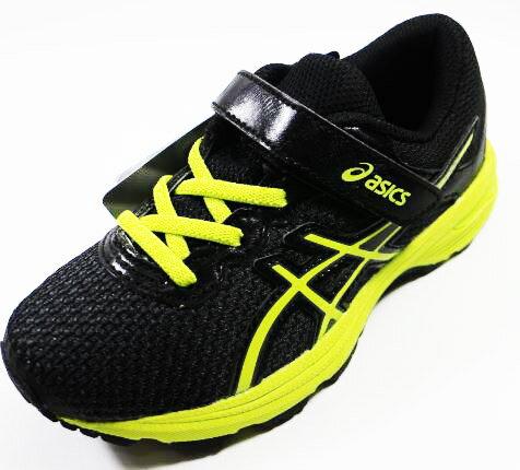 ASICS亞瑟士GT-10006PS兒童支撐足弓慢跑鞋C741N-9077(黑x螢光綠)[陽光樂活]