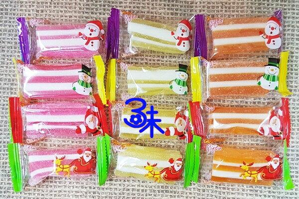(馬來西亞) 聖誕節三層肉軟糖 (三明治聖誕軟糖 聖誕節糖果 ) 1包 600公克 (35顆) 特價 90元