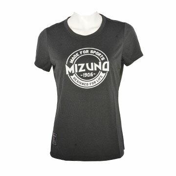 D2TA770209(黑)MIZUNO1906女休閒短袖T恤【美津濃MIZUNO】