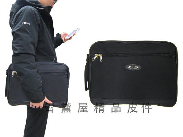 ~雪黛屋~YESON手拿包大容量可A4資夾簡易型隨身包高單數防水尼龍布+皮革手拿手抓分類包台灣製造品質保證Y17915