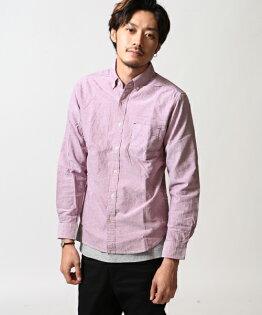 牛津襯衫長袖素色4WIN