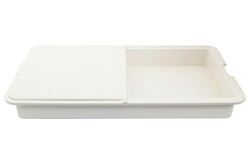 【百倉日本舖】日本製 NATURE二合一砧板/料理板-白色
