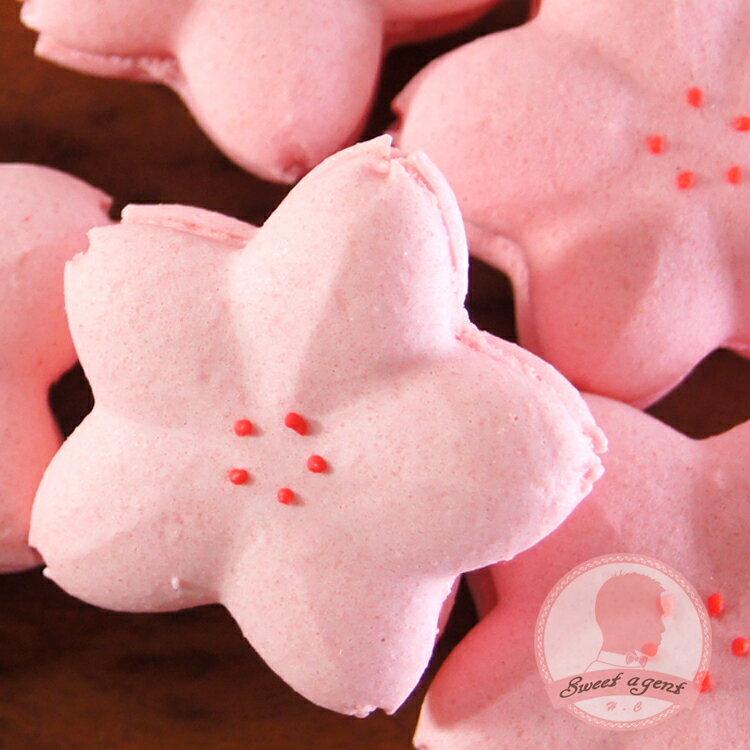【甜點特務】[ 櫻花馬卡龍 ] 5入組合,法式覆盆子、日式抹茶+白巧克力 比一般大顆喔!!!! 約5公分喔。 3