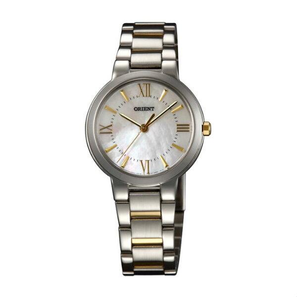 ORIENT東方錶DRESS系列(FQC0N003W)高雅珍珠時尚石英腕錶鋼帶款金色30mm