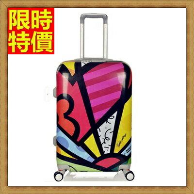 行李箱 拉桿箱 旅行子母箱-24吋幾何圖形街頭塗鴉男女登機箱2色69p59【獨家進口】【米蘭精品】