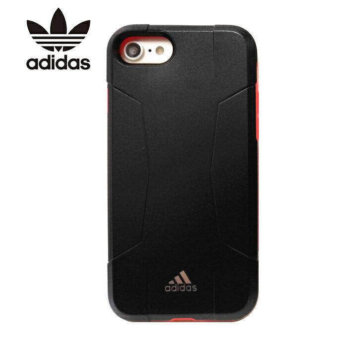 【adidas Originals】4.7吋 iPhone 6/6S/7 Solo Case 黑+紅 防摔保護殼/全包覆 耐衝擊/手機套/背蓋/手機殼/保護套