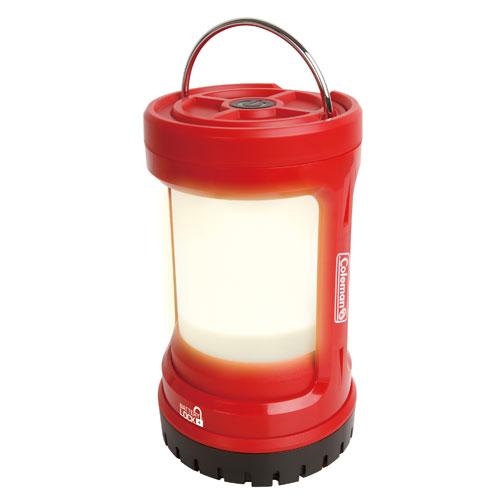 露營趣:【露營趣】中和附手電筒ColemanBATTERYLOCKPUSH暖黃光營燈LED露營燈300流明CM-27296