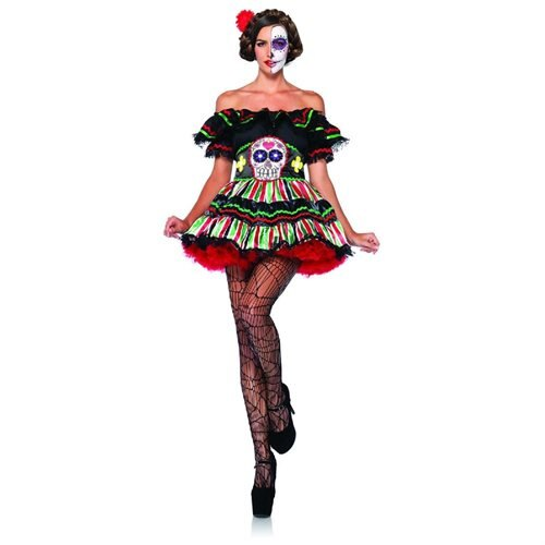 Day of the Dead Doll Adult Costume - Mexican Costumes 0