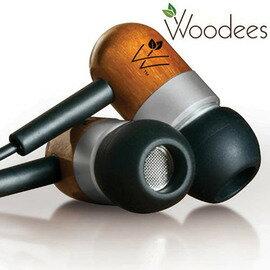 志達電子 IESW100B 美國 Woodees 經典麥克風耳機 木質原音耳機 門市提供試聽