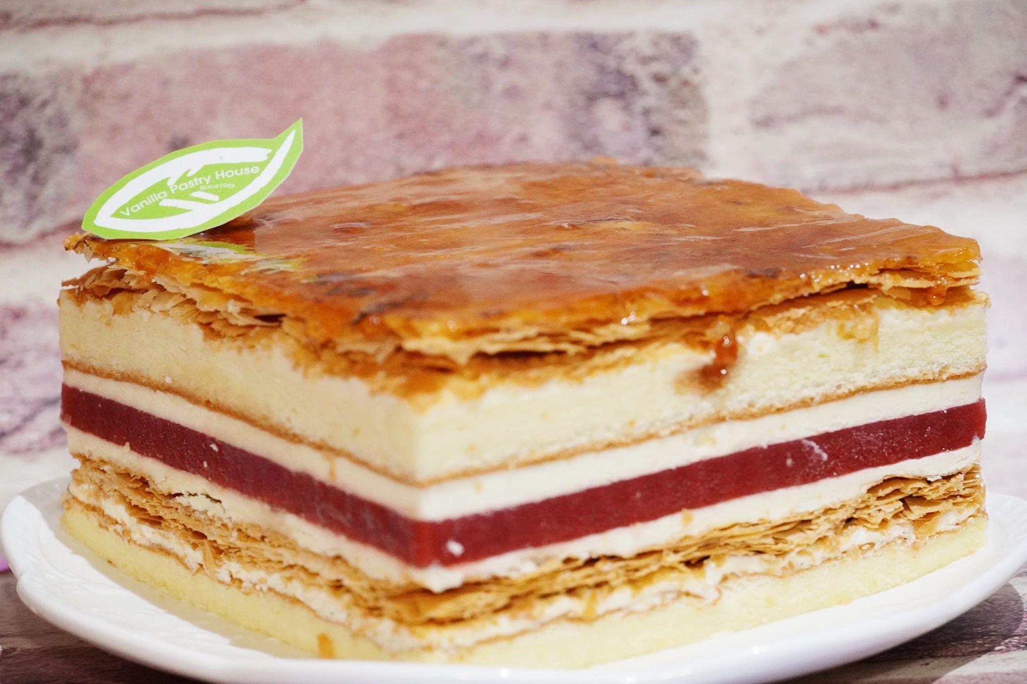 【6吋、8吋】法蘭西草莓★手工焦糖千層&草莓凍經典組合★挑動味蕾饗宴