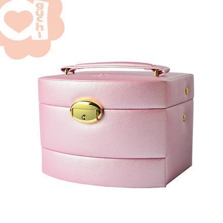【Aguchi 亞古奇】皇家風範-優雅粉袖珍版 珠寶盒(氣質貴族系列) 0