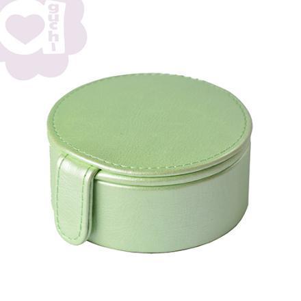 【Aguchi 亞古奇】法式馬卡龍-蘋果綠 珠寶盒(玩美精靈系列)