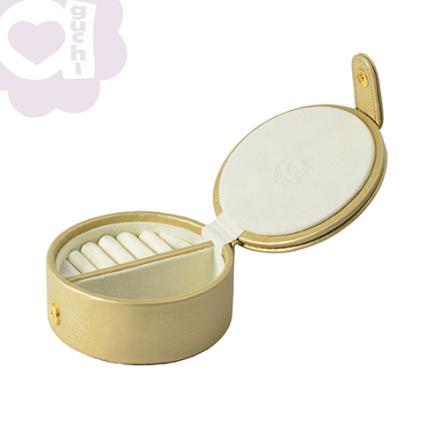 【Aguchi 亞古奇】法式馬卡龍-香檳金 珠寶盒(玩美精靈系列) 0
