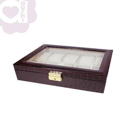 【Aguchi 亞古奇】奢華錶情-非凡紫 錶盒(氣質貴族系列) 0