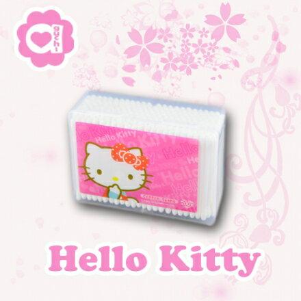 ☆Hello Kitty☆ 凱蒂貓塑軸棉花棒200支(盒裝) 高韌性塑膠軸桿不含螢光劑