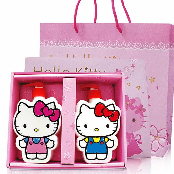 ☆Hello Kitty☆凱蒂貓『40週年限定』插畫風造型SPA禮盒(2造型沐浴公仔) 附Kitty櫻花精美紙提袋 0