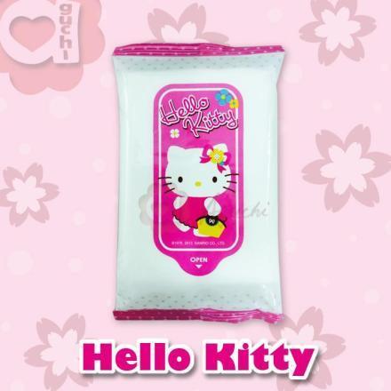 ☆Hello Kitty☆凱蒂貓 攜帶型柔濕巾(10抽X3包)每包12元【亞古奇 Aguchi】