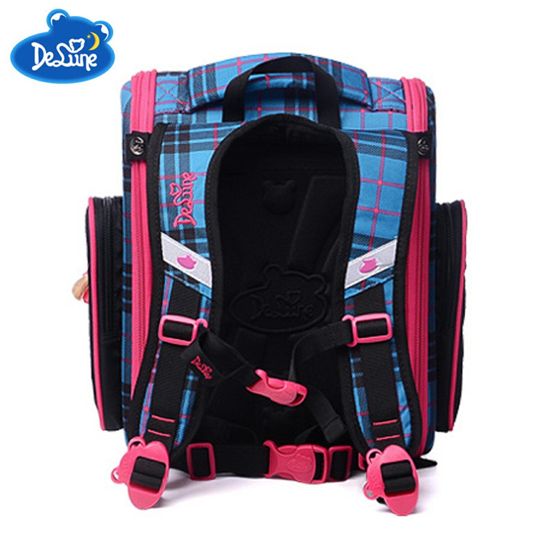 【Delune】【俄羅斯品牌護脊書包】【女童書包】粉藍小狗 A3-139