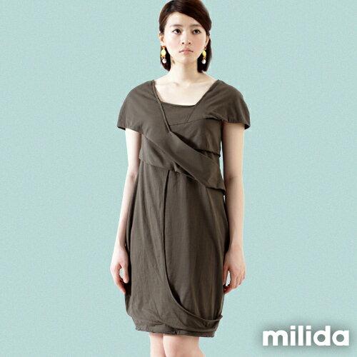 【Milida,全店七折免運】-春夏商品-造型款-甜美花苞洋裝 8