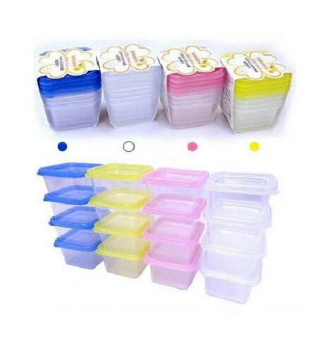 韓國BeBeLock 副食品儲存方盒(120ml)一包裝組4入(4色隨機出貨)