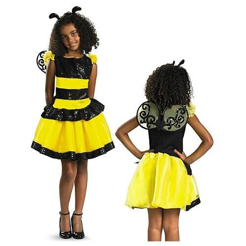 Girls Razzle Dazzle Bee Costume 0