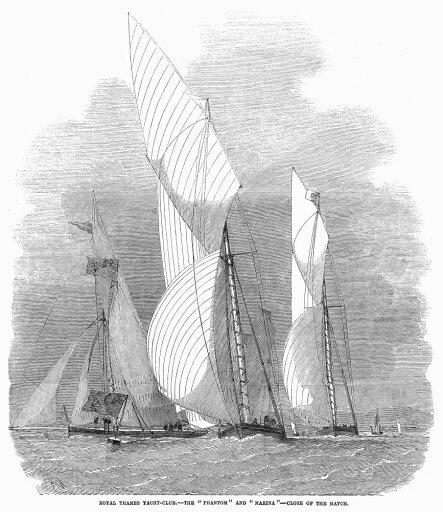 Yacht Race 1855 Nthe Royal Thames Yacht Club Match Between Phantom And Maria Wood Engraving 1855 Poster Print by (24 x 36) e76be19cd3032b39e3aa90a7b0b9a28a