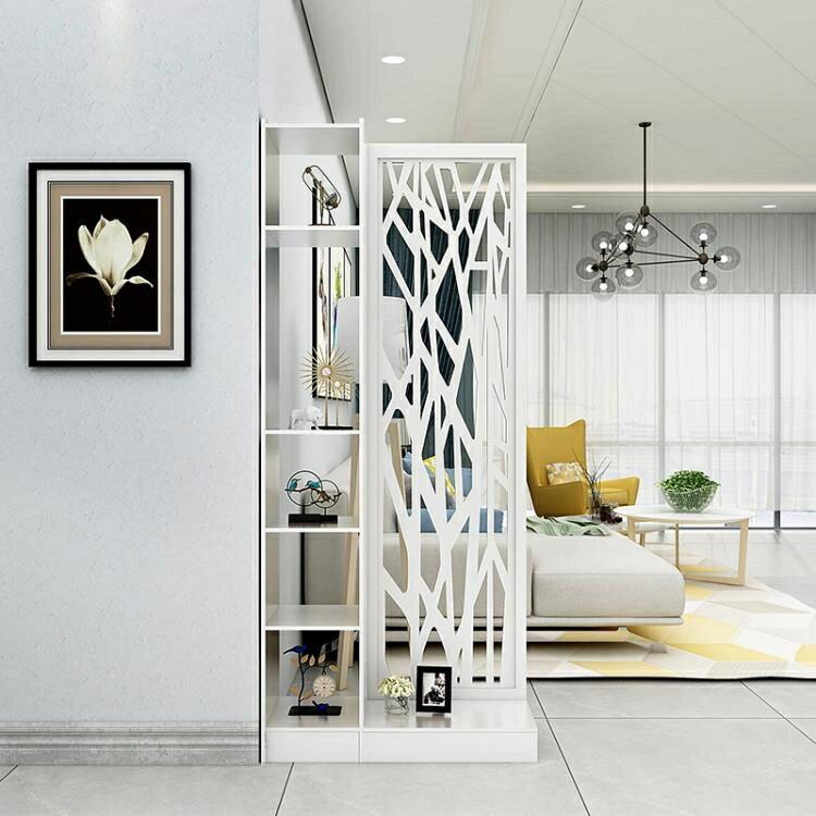 屏風隔斷簡約現代中式玄關門廳創意鏤空雕花時尚辦公櫥窗玄關酒櫃
