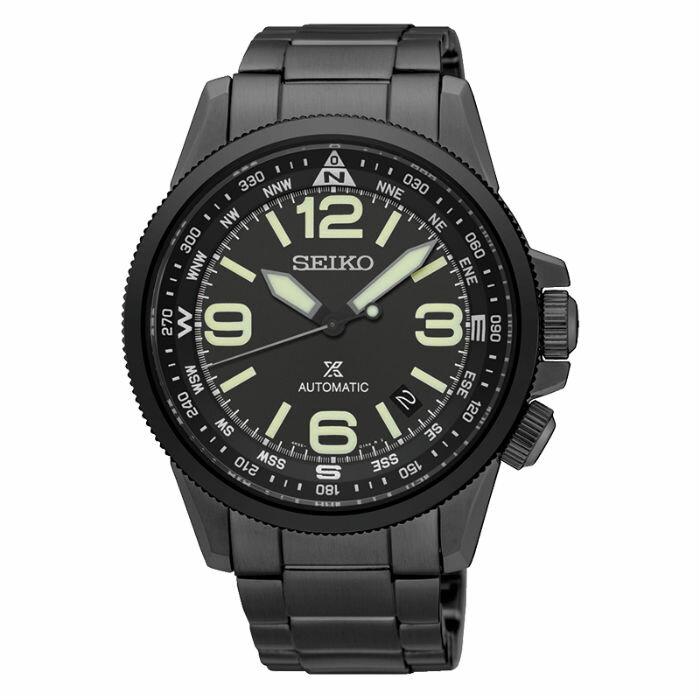 Seiko  Prospex 4R35-01N0SD(SRPA73J1) 航空概念機械腕錶/黑面42mm